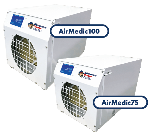 Dehumidifiers | AirMedic 75 & 100 | The Basement Doctor | Akron Ohio